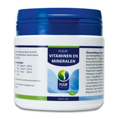 PUUR Vita-Min (Vitaminen & Mineralen) Hund/Katze - 75 gr