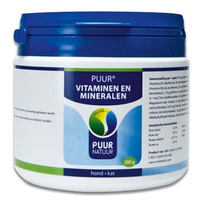 PUUR Vita-Min (Vitaminen & Mineralen) Hond/Kat -  250 gr | Petcure.nl
