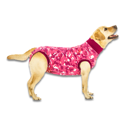 Recovery Suit Hond - S - Roze Camouflage | Petcure.nl