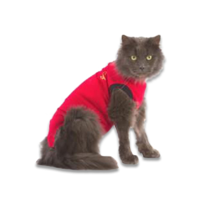 Medical Pet Shirt Katze - Rot XXXXS