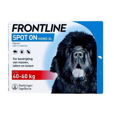 Frontline Spot-on Hond XL | 40-60 kg | 3 pipetten EU