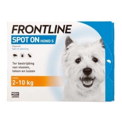 Frontline Spot-on Hond S | 2-10 kg | 3 pipetten | Petcure.nl