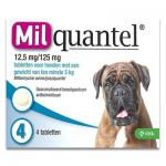Milquantel Chien plus de 5 kg (12,5 mg/125 mg) - 4 Tablets