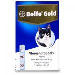 Bolfo Gold 80 - Kat 4-8 kg - 4 Pipetten | Petcure.nl