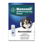 Mansonil All Worm Grosse Hund Flavour - 2 Tabletten