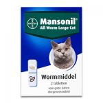 Mansonil All Worm Grote Kat - 2 Tabletten