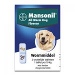 Mansonil All Worm Dog Flavour - 2 Tabletten