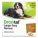 Drontal Large Dog Tasty vanaf 35 kg - 2 Tabletten | Petcure.nl