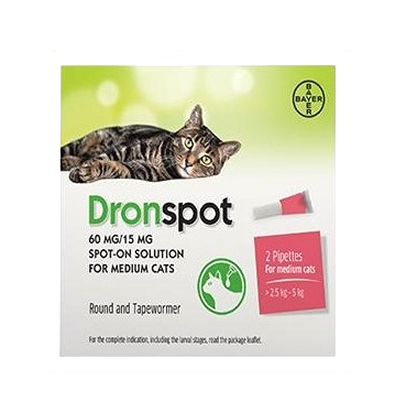 Dronspot Spot-on Medium Katze (2.5 - 5 kg) - 2 Pipetten