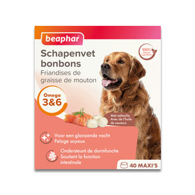 Beaphar Schapenvet Bonbon Zalm Maxi - 245 g | Petcure.nl