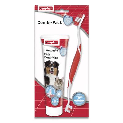 Zahnbürste mit Zahnpasta  - 1 x Combi-Pack