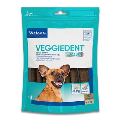 Veggiedent Kauwstrips hond (tot 5 kg) - 15 Stuks