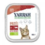 Yarrah Organic Cat Paté Beef, Chicken and Chicory - 16 x 100 g