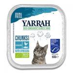Yarrah Bio Chunks In Soße Katze - 16 x 100 g (Fisch/Hühn/Spirulina)